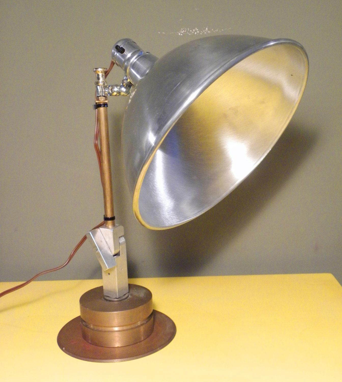 industrial vintage mid century desk lamp by vintageindustriesinc. Black Bedroom Furniture Sets. Home Design Ideas