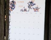 2016 Nature Wall Calendar, Flower Calendar 2016