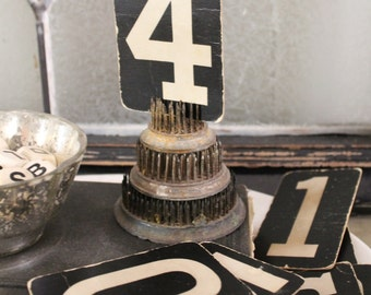 Vintage Number Card Church Board Attendance Sign Farmhouse Decor Cardboard Black