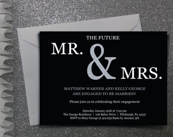 Future Mr & Mrs. Engagement party invitation- Digital file