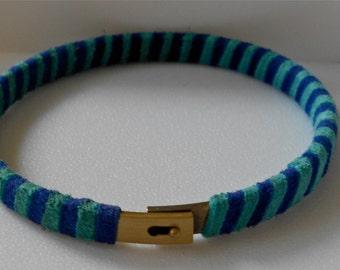 Handmade Striped Suede Bangles