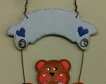 Baby Bear with Banner Christmas Ornament