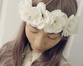 Flower Crown/Headwrap - Ivory Dreams