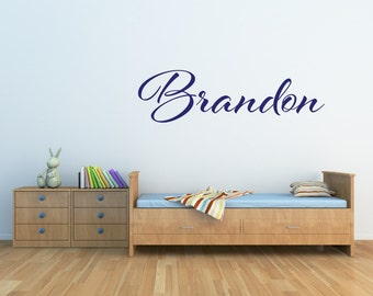 Boys Wall Decals - Personalized Name Wall Decal - Childrens Decor - Baby Name Decal - Nursery Name Decal - Vinyl Wall Decal