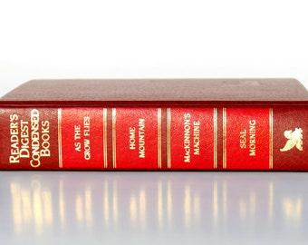 Reader's Digest Condensed Books, 1991, Red, Vintage Book