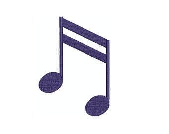 Machine Embroidery Design Instant Download - Music Barred Descending Sixteenth Notes 3