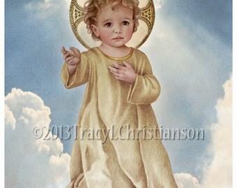 Savior of the World, Infant Jesus, Christ Child, Catholic Art Print #4047