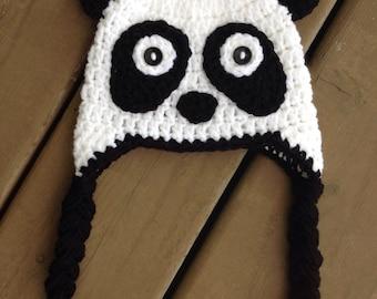 Free Crochet Baby Panda Hat Pattern : Crochet panda hat Etsy