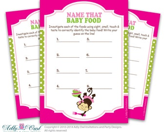 BABY SHOWER GAME GUESS THE BABY FOOD - baby shower game