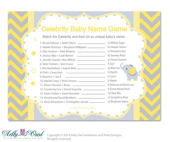 Top celebrity baby names