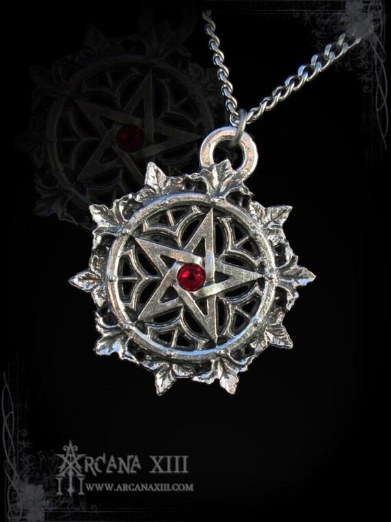 Handmade Gothic Harajuku Fashion W H Naoto Spiderweb Bag: Handmade Pentagram Gothic Pentagram With Swarovski By