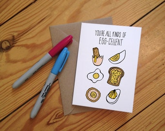 Eggcellent greetings Card