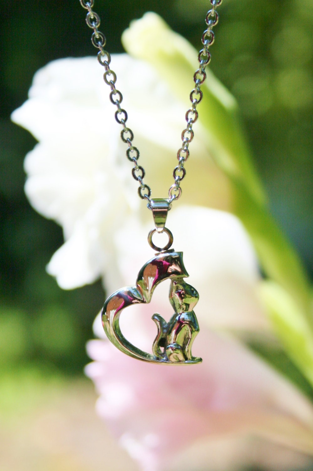 Pet cat cremation jewelry for ashes urn necklace ash pendant for Jewelry to hold cremation ashes