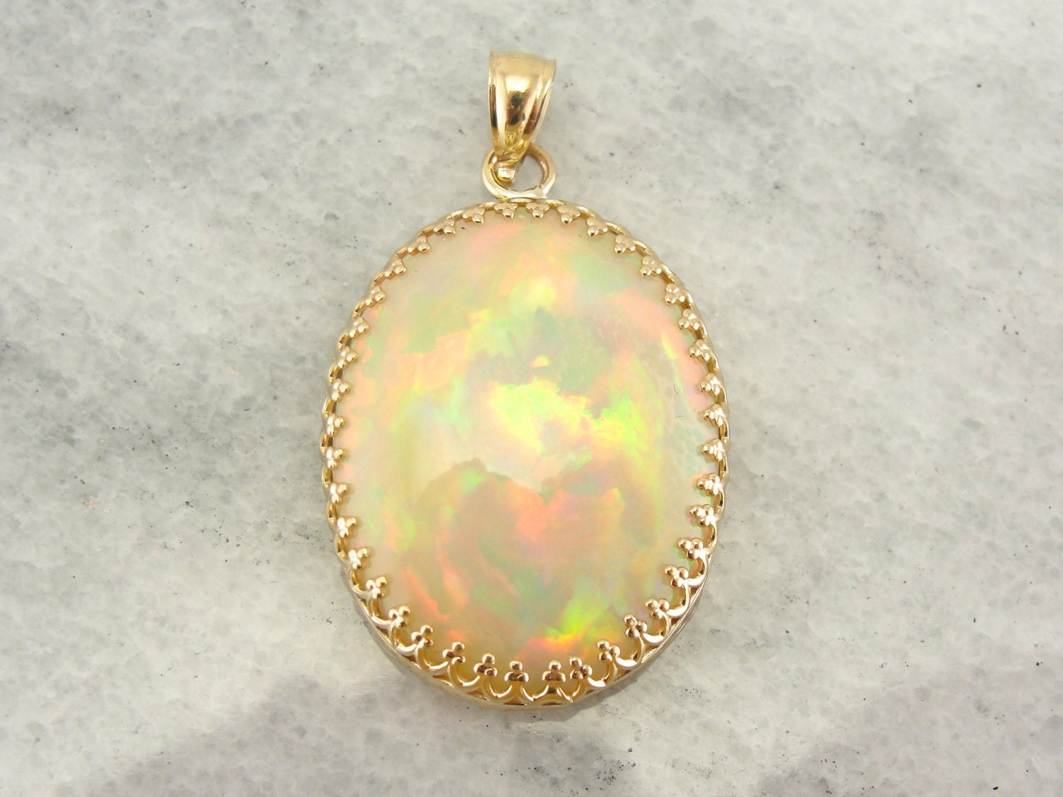 our finest opal pendant large gemstone in