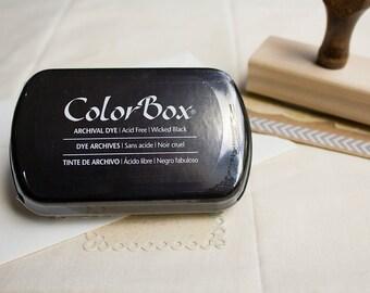 Black Archival Dye Ink Pad, Black Ink Pad, ColorBox Black Stamp Pad