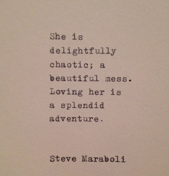 Steve Maraboli Love Quote Hand Typed on Vintage Typewriter