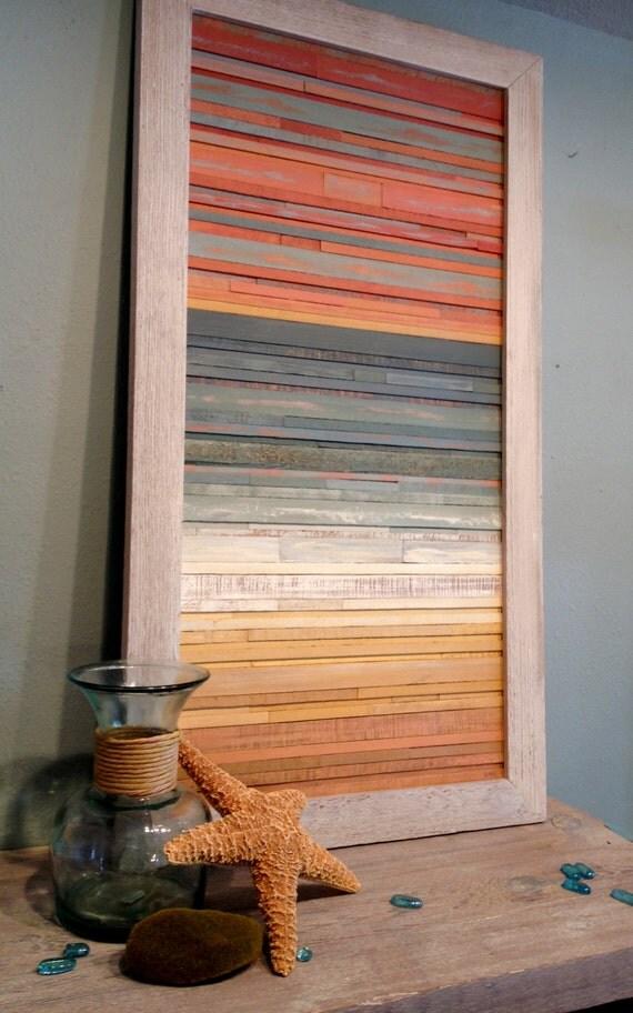Reclaimed Wood Wall Art Handmade