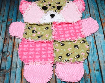 Sophia the Kitty Rag Quilt RTS -- Christmas in July Sale -- Price Reduced