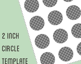 Digital collage template - 2 inch circle - bottle cap template - Do It Yourself digital collage - instant download