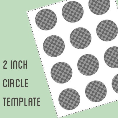 9 inch circle template - digital collage template 2 inch circle bottle cap template