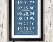 What a Difference a Day Makes / Quotes / 11x17 Inch Print / Home Decor / Family / Important Dates