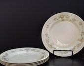 Vintage, Set of Five Homer Laughun Georgian Salad Plates