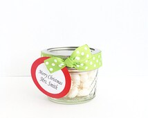 Personalized Mini Mason Jar, Christmas Gift Mason Jar, Christmas Party Favor, Teacher Gift Idea, Coworker Gift Ideas, Holiday Party Set of 4