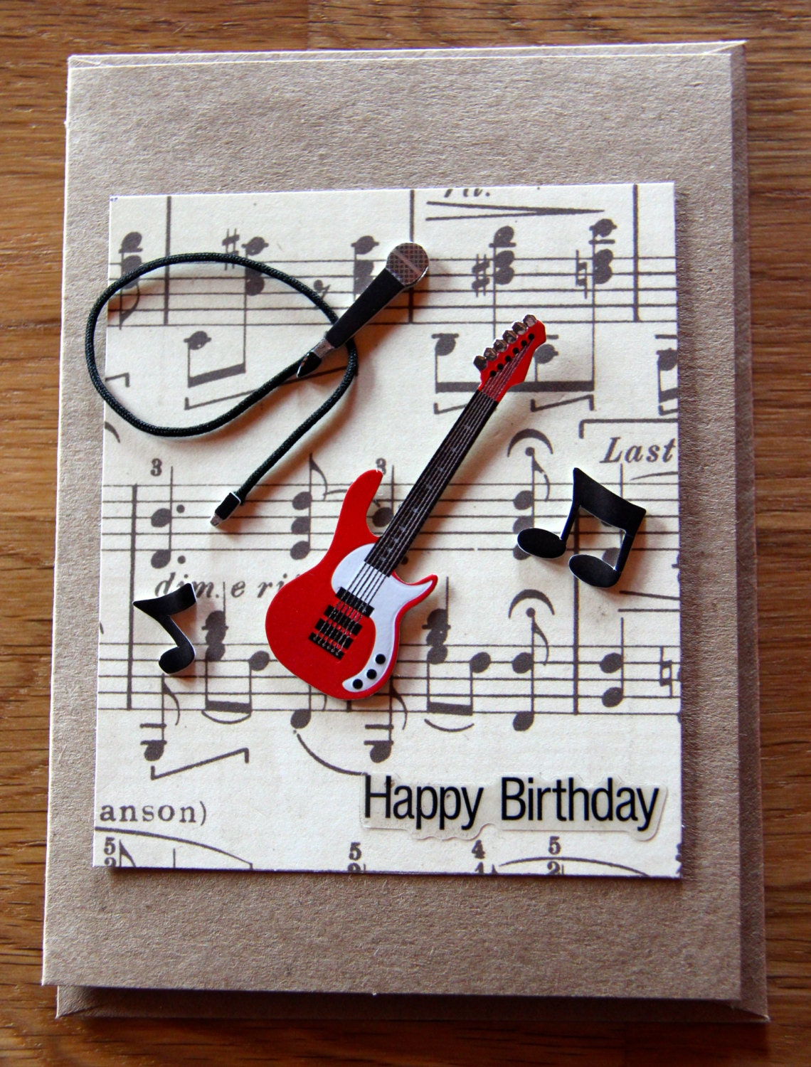 Handmade Cards Handmade Birthday Cards Band Card Music – Musical Cards for Birthday