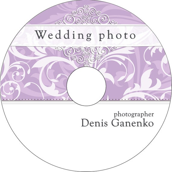 wedding cd  dvd label template vintage patterns by cameraclick
