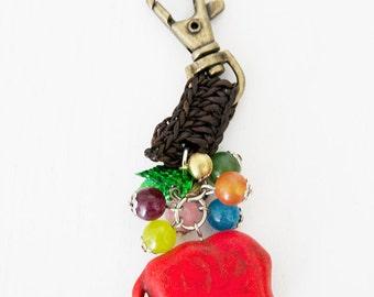Handmade keyring pendant