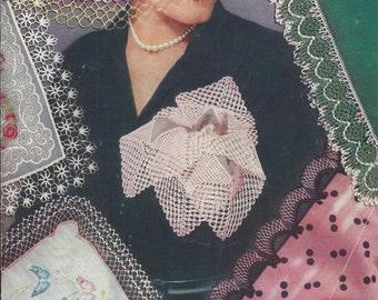 Vintage Clark's J & P Coats Edgings For Handkerchiefs Crochet Pattern Book No 271 Dated 1951