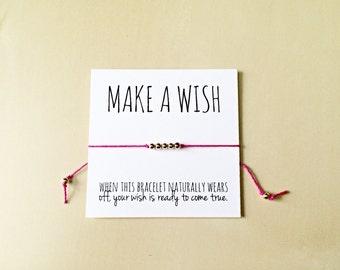 Wish Bracelet- Make a Wish Bracelet, Friendship Bracelet, Wishing, Party Gift Favors