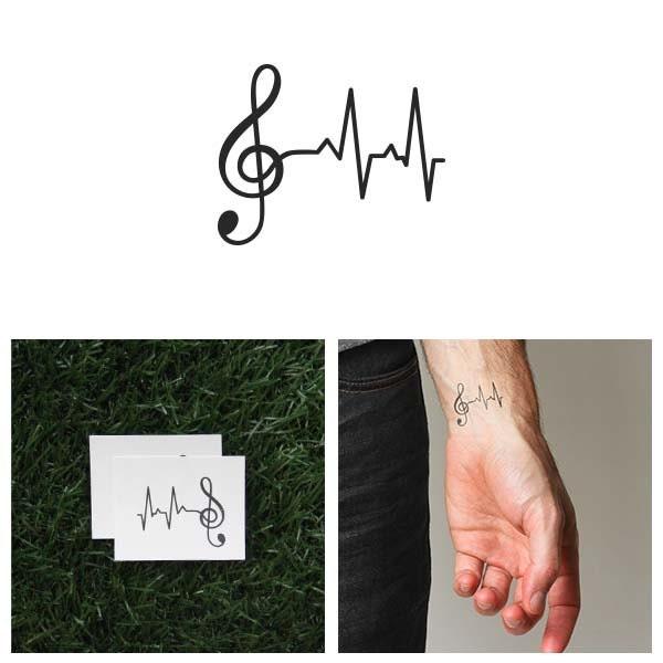 lifeline temporary tattoo set of 2. Black Bedroom Furniture Sets. Home Design Ideas