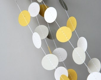 Yellow gray wedding garland, Wedding decorations, Yellow gray wedding garland, Wedding garland, Bridal shower decor, KC-1002