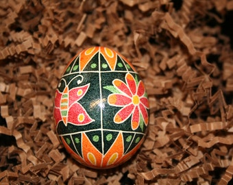 Butterfly and Flower Summer Ukrainian Egg
