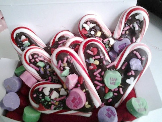 Valentines Candy Hearts Chocolate Filled conversation hearts 5 pieces