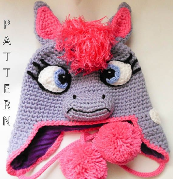 Crochet Pony Hat Pattern Pony Hat Crochet Pattern