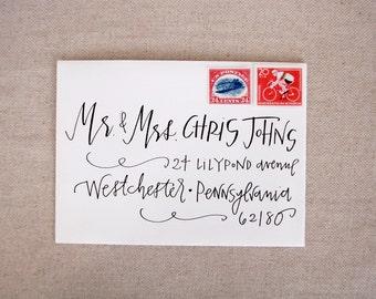 Wedding Calligraphy Envelope Addressing - Black Modern Calligraphy