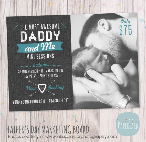 Father's Day Mini Session Template Photoshop IF013