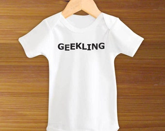 Geekling Baby Funny One Piece Gamer Bodysuit Creeper Shirt