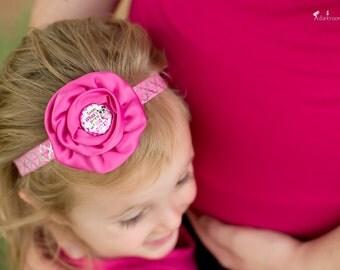 Big Sister Headband, Pregnancy Announcement Headband, Big Sister to Be Headband, Pink Owl Headband, Big Sister to a Little Sister