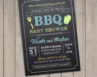 Bbq baby invitations / Baby shower bbq invitation / Bbq baby shower invitations / Bbq baby shower invite / Babyque invitation / BBQ Baby