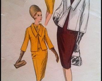 "RARE Vogue Pattern 6162  Misses' One Piece Dress And Jacket  BUST 34""  UNCUT"