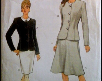 Very Easy Very Vogue 9110  Misses' Jacket & Skirt  Size (14-18)  UNCUT