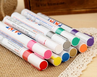 Set of 11 paint marker pen oil based for black card,  graffti, paper working, scrapbook, wedding