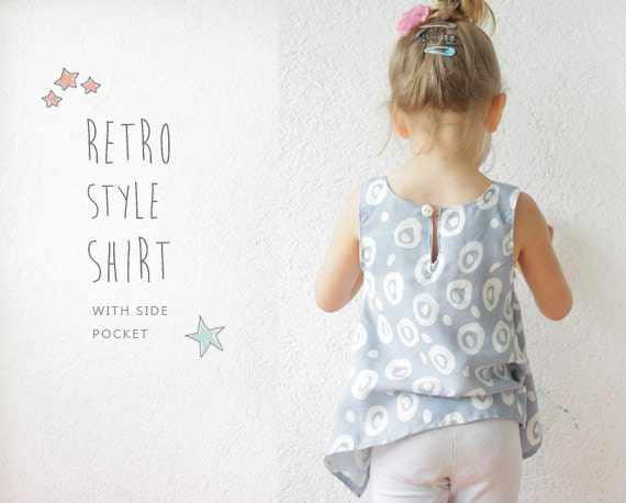 Retro Shirt Pattern Pdf Toddler Sewing Tutorial By