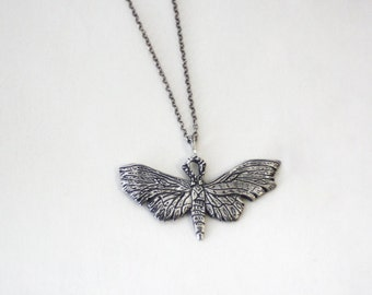 Unidentified Moth II necklace- Sterling Silver