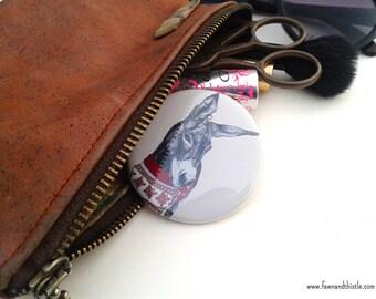Christmas Donkey // Pocket Mirror