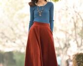 Sorrel Wool Skirt Warm Plus Size Skirts (175)