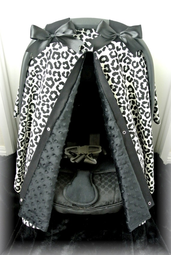 black minky car seat canopy car seat cover by jaydenandolivia. Black Bedroom Furniture Sets. Home Design Ideas